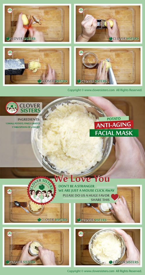 potato anti aging facial mask