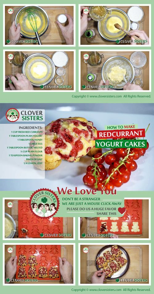 redcurrant yogurt cakes recipe