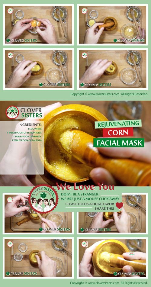 rejuvenating corn skin facial mask recipe