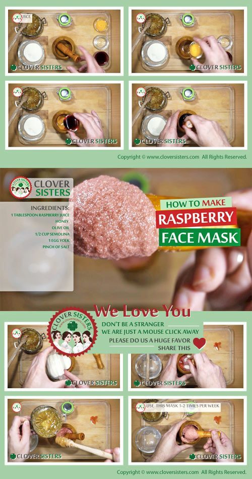 rejuvenating raspberry facial mask