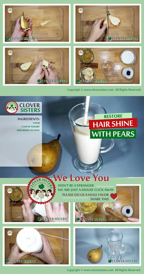 restore hair shine pear smoothie