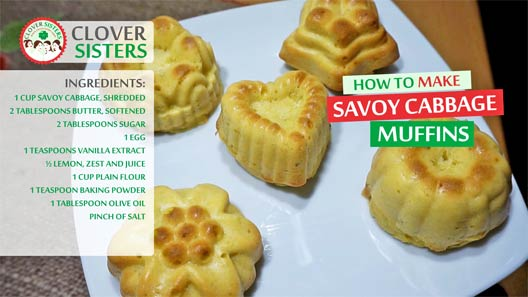 savoy cabbage lemon muffins recipe
