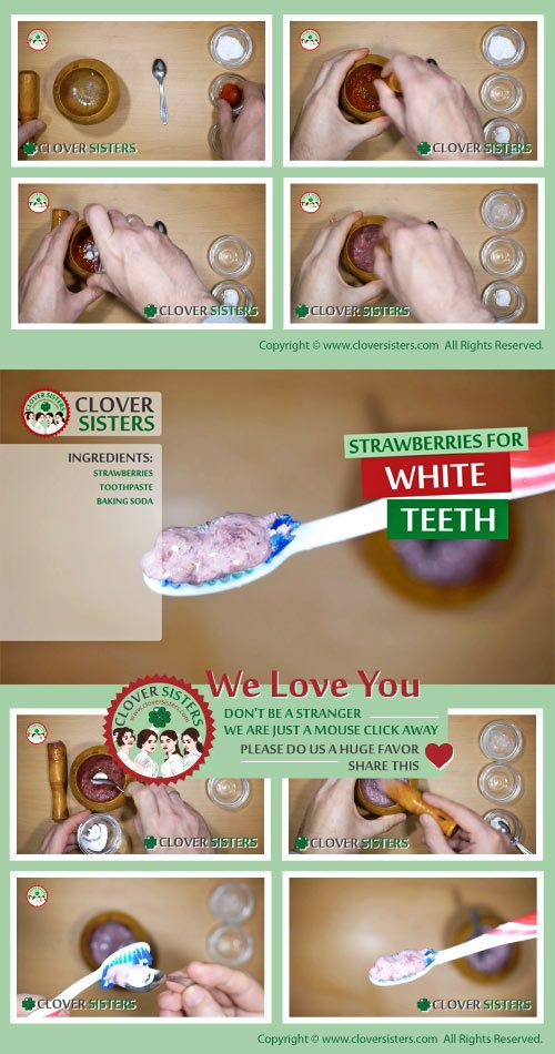 strawberries teeth whitening