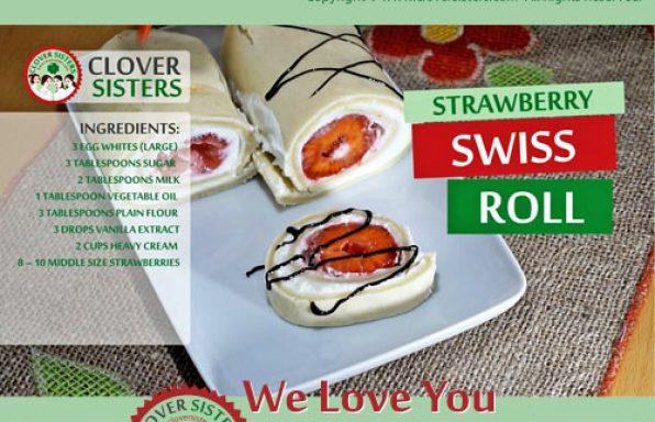 strawberry Swiss roll cake recipe