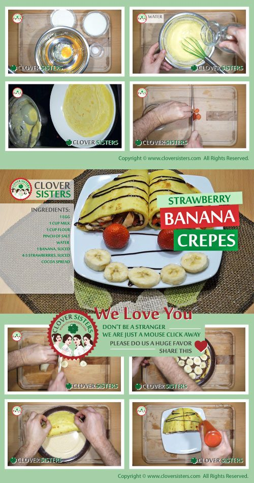 strawberry banana crepes recipe
