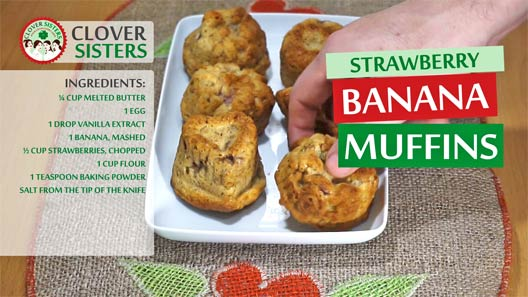 strawberry banana muffins recipe