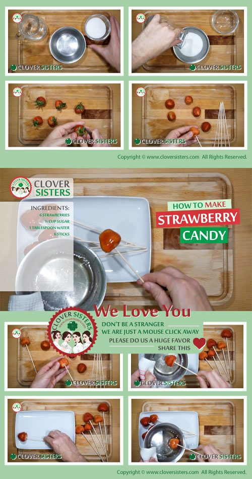 strawberry candy recipe