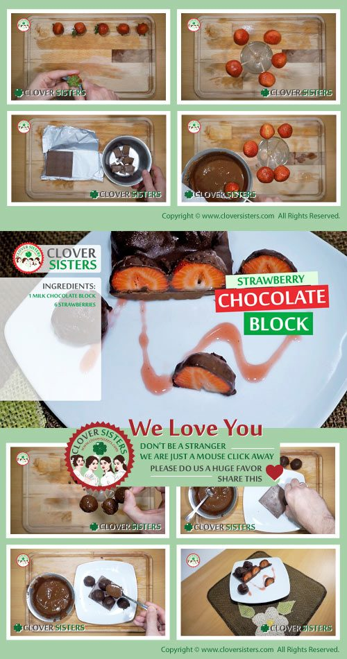 strawberry chocolate block recipe