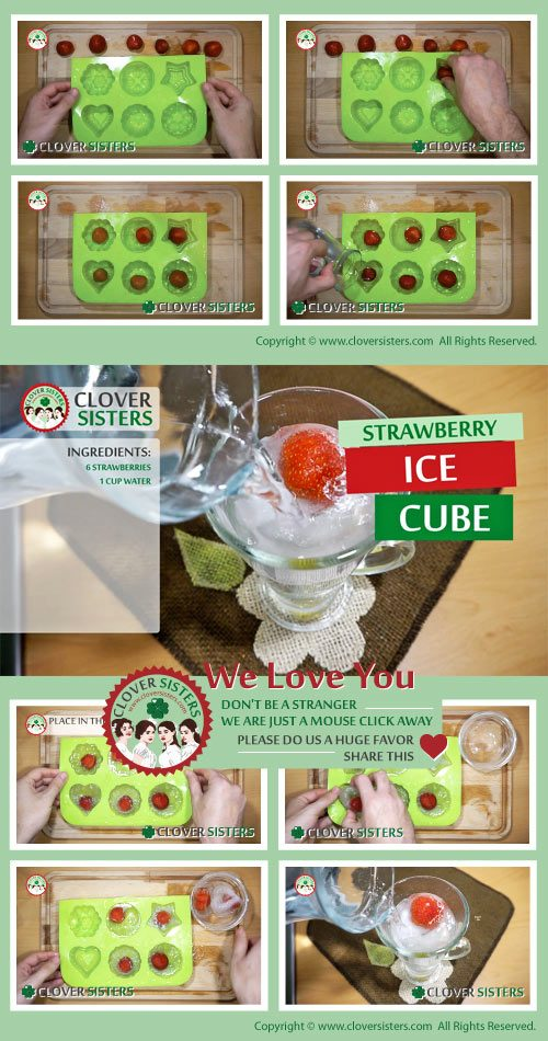 strawberry ice cube recipe