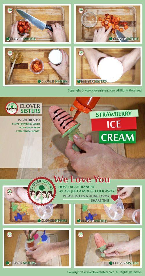 strawberry ice lolly recipe