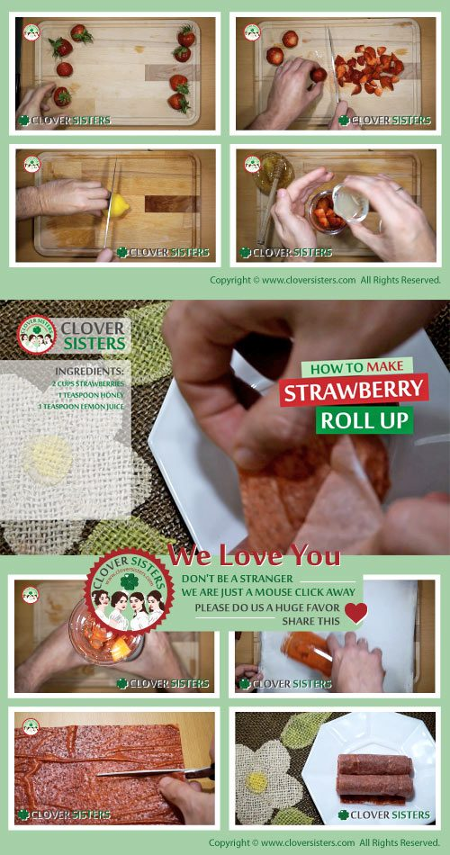 strawberry roll ups recipe