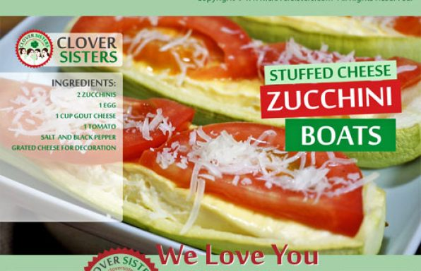 stuffed cheese zucchini boats recipe