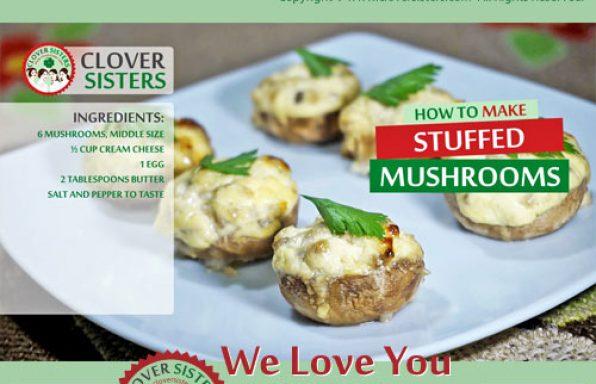 Mushrooms stuffed cream cheese recipe
