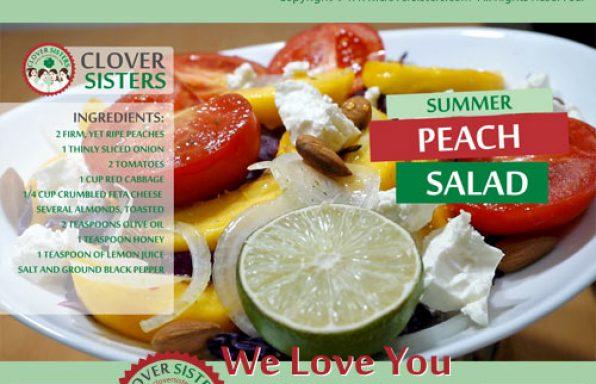 summer peach salad recipe