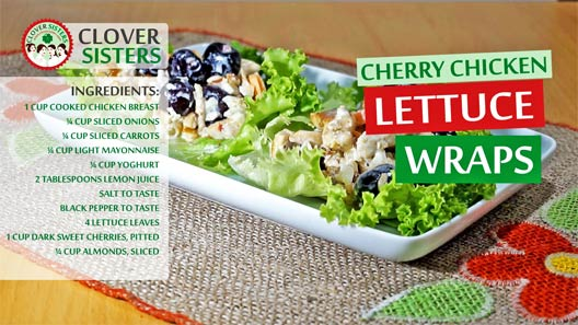 sweet cherry chicken lettuce wraps recipe