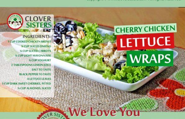 sweet cherry chicken lettuce wraps recipe