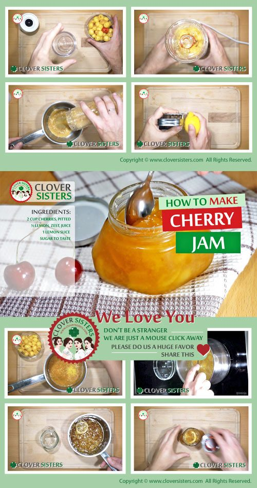 sweet cherry jam recipe