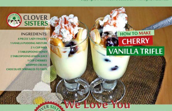 sweet cherry vanilla trifle recipe