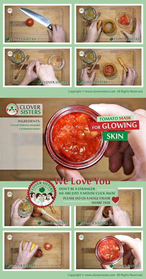 tomato mask glowing skin