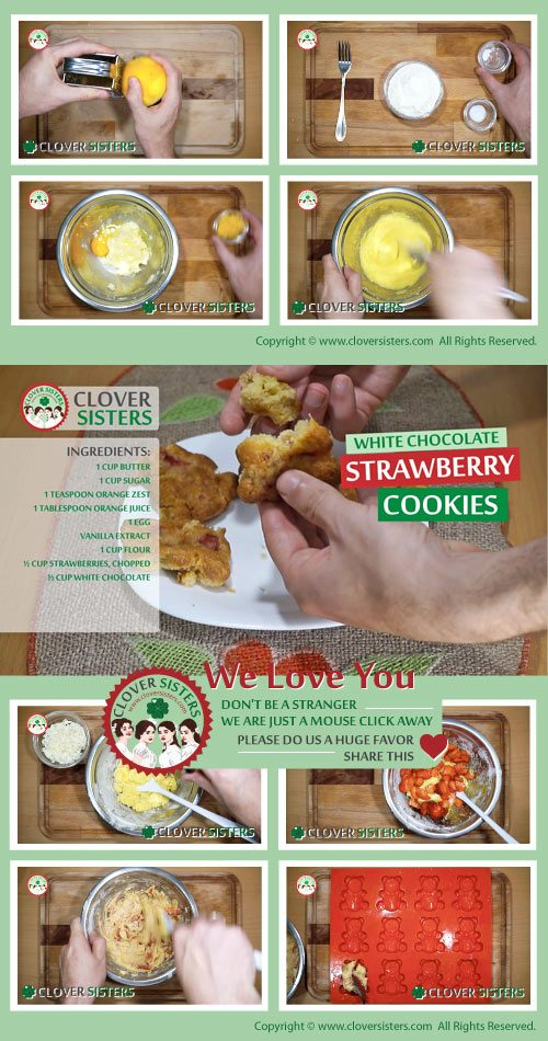 white chocolate strawberry cookies recipe