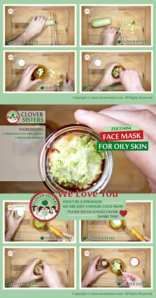 zucchini face mask oily skin remedy