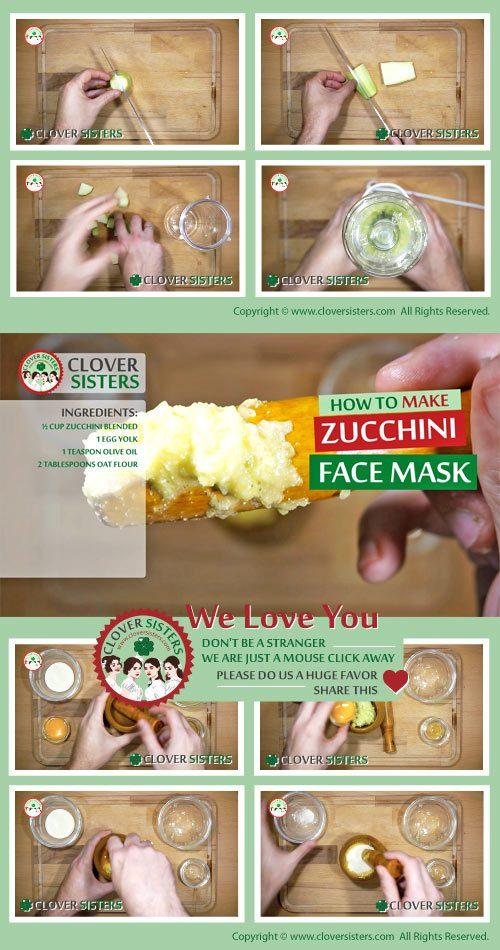 zucchini skin face mask