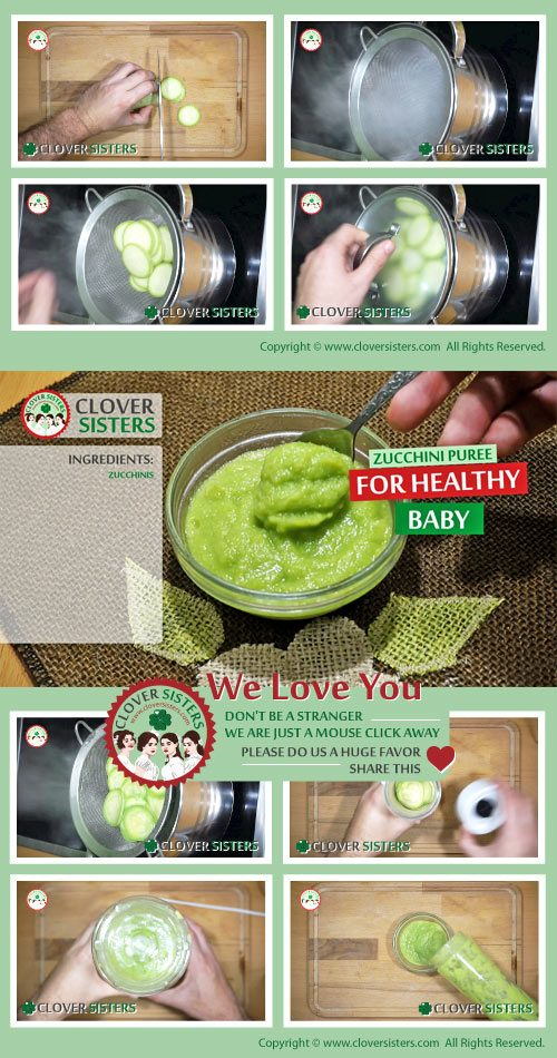 zucchini puree healthy baby recipe